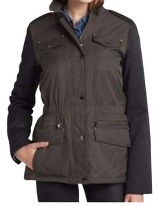Laundry by Shelli Segal Anorak Quilted Army Green/Black Jacket