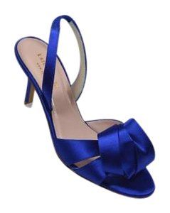 Kate Spade Royal Evening Floral Satin Blue Pumps