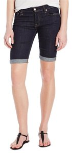 7 For All Mankind Bermuda Shorts Ink Rinse