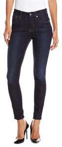 7 For All Mankind Midrise Ankle Skinny Jeans-Dark Rinse