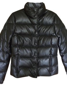 Bogner Down Classic Fitted Ski Leather Jacket