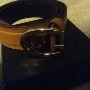 Gucci Gucci tan horsbit leather belt