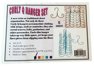 15 CURLY Q HANGERS - Cami's, Scarves, Belts & Accessories BLACK