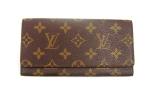 Louis Vuitton Monogram Canvas Leather Porte-Yen Long Bill Receipt Wallet w/ Tags