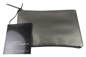 Laura Mercier Laura Mercier Metallic Dark Gray Cosmetics/Makeup Bag Case Pouch