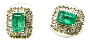 Emerald Diamond Earrings * Emerald Diamond Gold Earrings