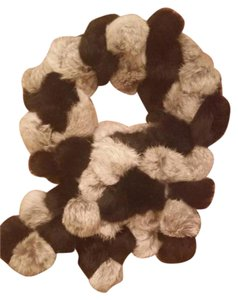 Adrianna Papell Fur ball scarf black and gray