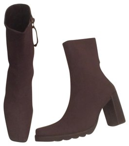 Donald J. Pliner Leather Platform Brown Boots
