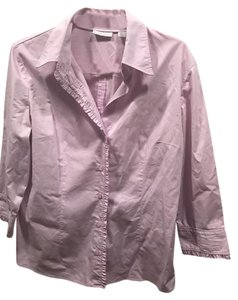 New York & Company Button Down Shirt Lavender