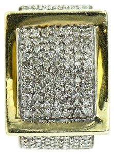 Diamond Paved Gold Ring