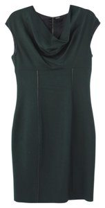 Elie Tahari Emerald Cowlneck Dress