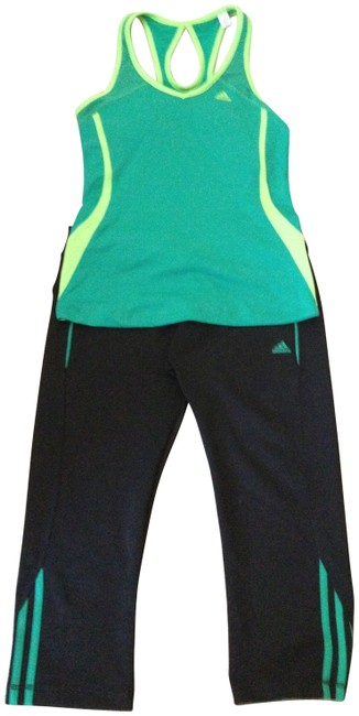 Preload https://item2.tradesy.com/images/adidas-black-and-green-activewear-sportswear-size-8-m-29-30-198621-0-0.jpg?width=400&height=650