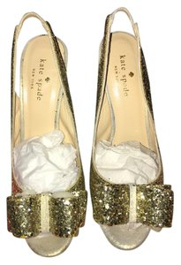 Kate Spade Glitter Sandal Gold Formal