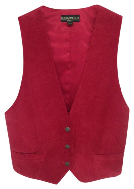 Item - Red Suede Vest Size 4 (S)