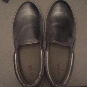 J.Crew Metallic Silver Athletic