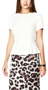 Tegan Office Outfit Top Ivory