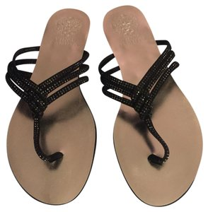 Vince Camuto Black and silver Sandals