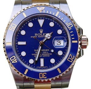 Rolex Rolex Submariner Mens Gold Steel 116613 Ceramic 2015 Blue Dial Bezel