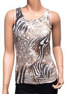 Yansi Fugel Built In Bra Rayon Bodycon Stretchy Fitted Top Multi-color