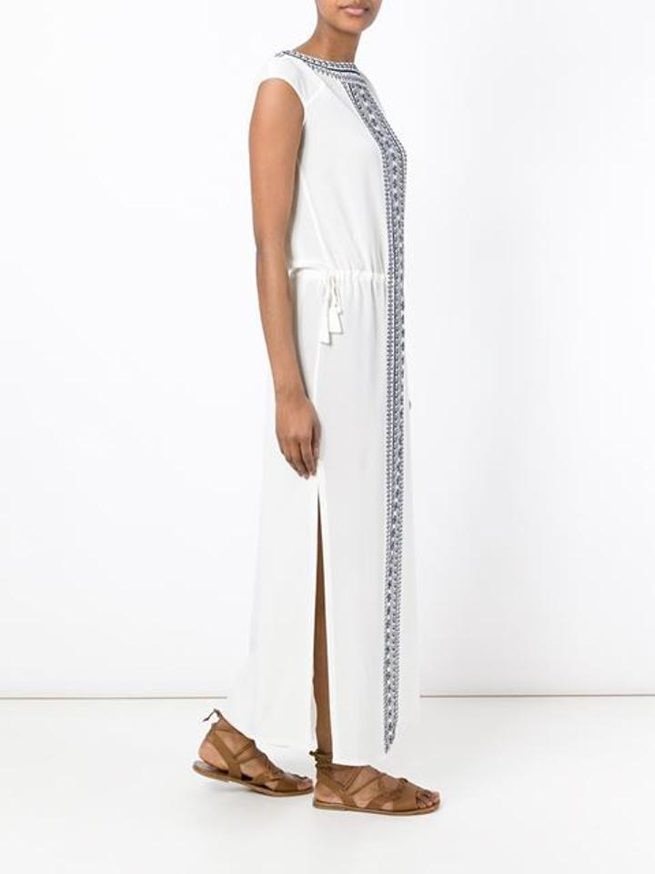 Casual Navy Tory Tory Maxi Dress Caftan Embroidered Ivory New Burch nCCP1Rqg