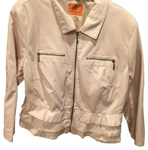 Judy Crowell Light pink Leather Jacket