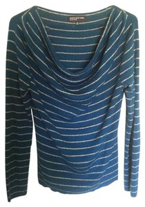 Jones New York Silver Metallic Glitter Tunic