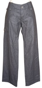 James Perse Cashmere Blend Cargo Dark Gray Pockets Fly Pants