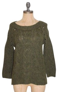 Ann Taylor LOFT Cable Knit Wool Blend Sweater