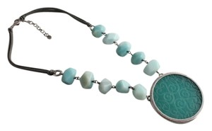 Silpada Silpada Sterling Silver Carved Amazonite Necklace N2070