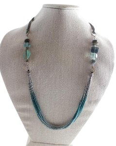 Silpada Silpada Sterling Silver and Aqua Stone Multi Strand Necklace N2069