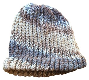 Brown Knit Ombre Winter Hat