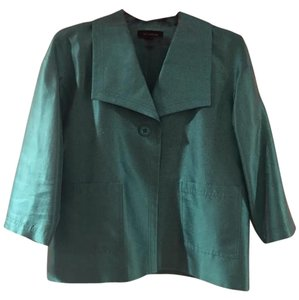 St. John Single Button Sheen Green Jacket