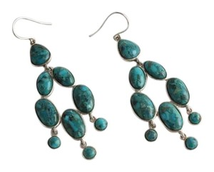 Silpada Silpada Sterling Silver and Turquoise Vieques Earrings W3289