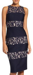 London Times Lace Midi Sheath Dress