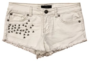 Jessica Simpson Cut Off Shorts White, silver