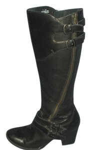 Børn Born Zipper Buckle Leather black Boots