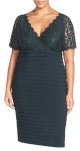 Adrianna Papell Lace Jersey Sheath Dress