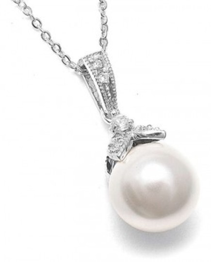 Mariell Silver 3045s Pearl and Cz Jewelry Set