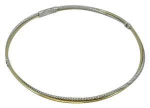 David Yurman sterling silver, 18k yellow gold, crossover choker