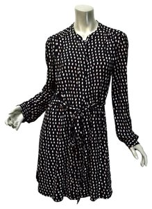 Madewell short dress Black Polka Dot And White Rayon Retro Sash on Tradesy