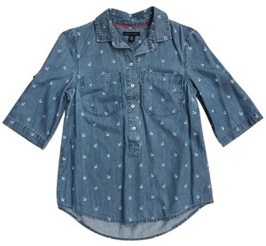 Tommy Hilfiger Button Down Shirt Blue chambray