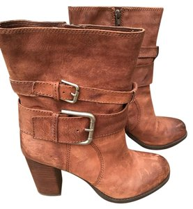 Nine West Leather Distressed dark brown/chocolate Boots