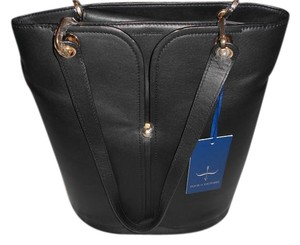 Pour La Victoire Sophisticated Design Supple Leather Tote in Black