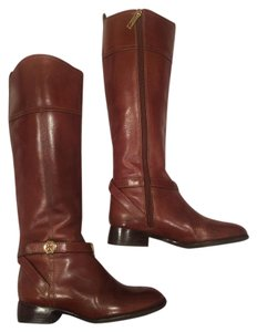 Tory Burch Knee High Leather Riding Brown Boots