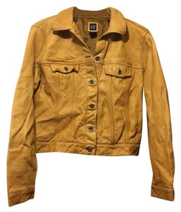 Gap Tan Leather Jacket