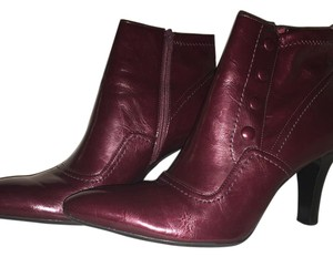 Franco Sarto Leather Ankle Brown Boots
