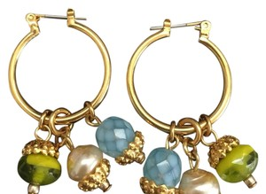 Banana Republic Gold Hoop Earrings With Charms