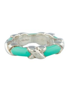 Tiffany & Co. tiffany blue enamel x ring 4