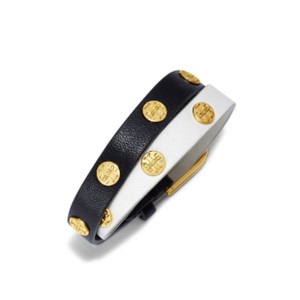 Tory Burch Color-Block Double-Wrap Logo Stud Bracelet