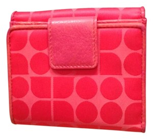 Kate Spade Pink Jacquard with pink leather trim